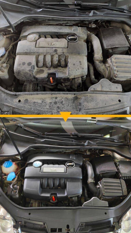 Czyszczenie komory silnika VW Golf