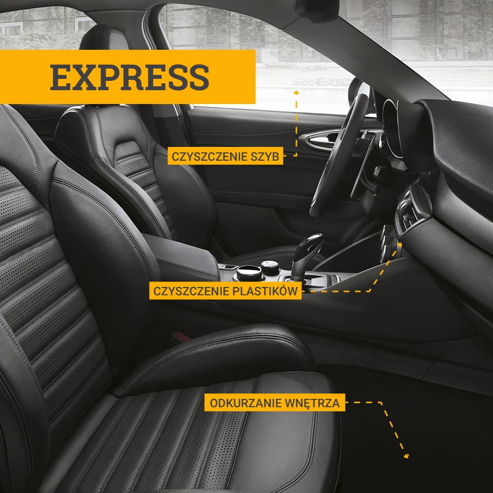 Auto Myjnia - czyszczenie wnętrza Express