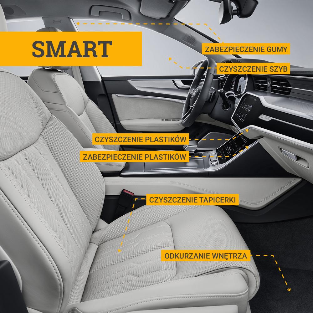 Auto - Myjnia - Czyszczenie wnętrza auta - SMART
