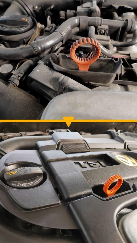 Mycie komory silnika Volkswagen VW TSI