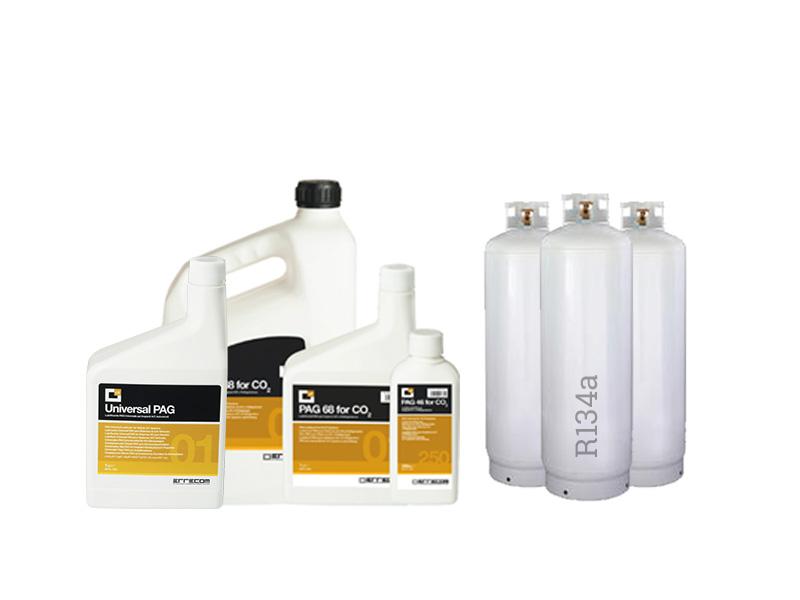Uzupełnienie czynnika i oleju w klimatyzacji samochodowej