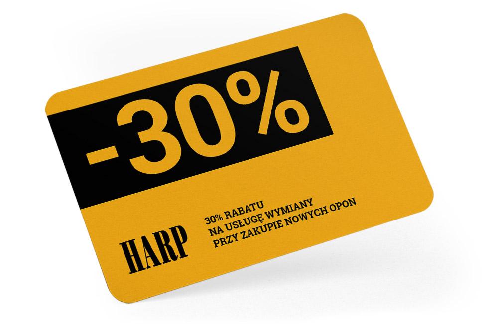 Kup opony - otrzymasz 30% rabatu na wymianę