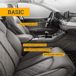 Czyszczenie wnętrza auta BASIC